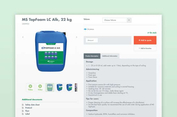 Screenshot: sell complex products online